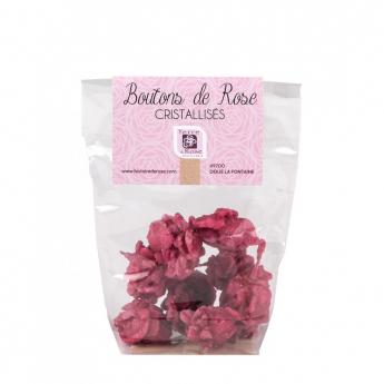 Boutons de rose cristallisés 50 g