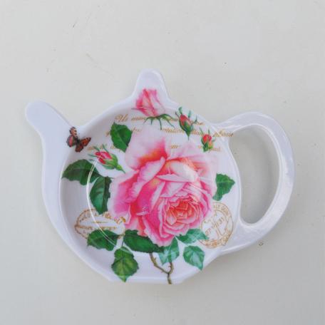 Porte sachet à thé redouté Rose